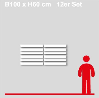 GewerkeschilderB100xH10-12er-Set