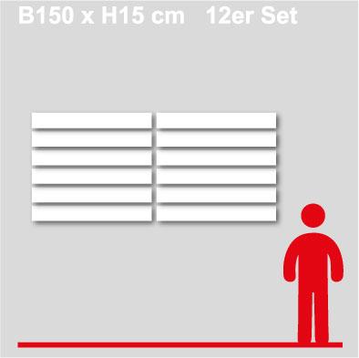 GewerkeschilderB150xH15-12er-Set