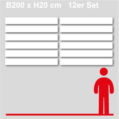 GewerkeschilderB200xH20-12er-Set