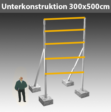 Preise für Werbegestelle-Unterkonstruktion-Bauschilder-Schilder F28