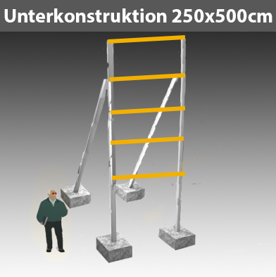 Preise für Werbegestelle-Unterkonstruktion-Bauschilder-Schilder F4