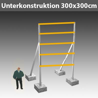 Unterkonstruktion-für-Bauschild_300x300cm