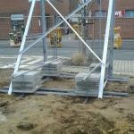 Preise für Bauschilder-Unterkonstruktion-Schilder-Bauzaunblende B35