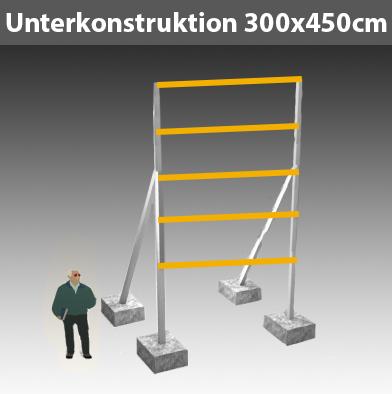 Preise für Werbegestelle-Unterkonstruktion-Bauschilder-Schilder F8
