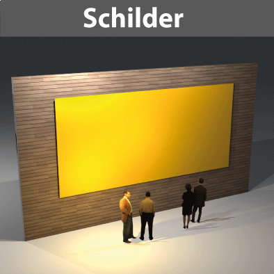 Schilder ab 1,0qm