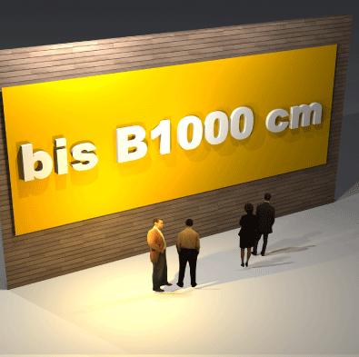 Schildbreite bis B 1000