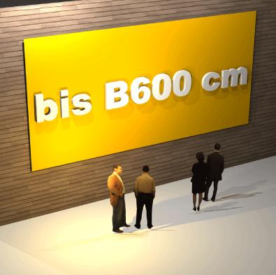 Schildbreite bis B 600
