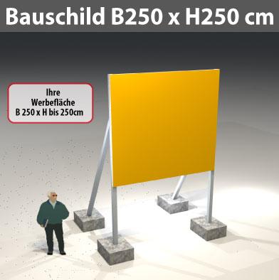 Bauschild_250x250cm