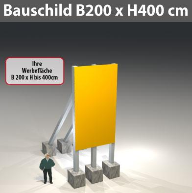 bauschild_200x400