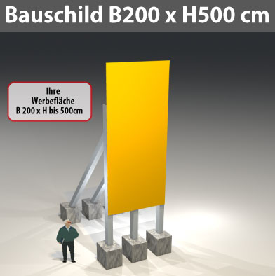 bauschild_200x500