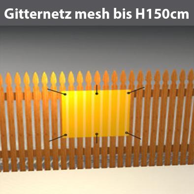 Gitternetzplane mesh bis H150cm