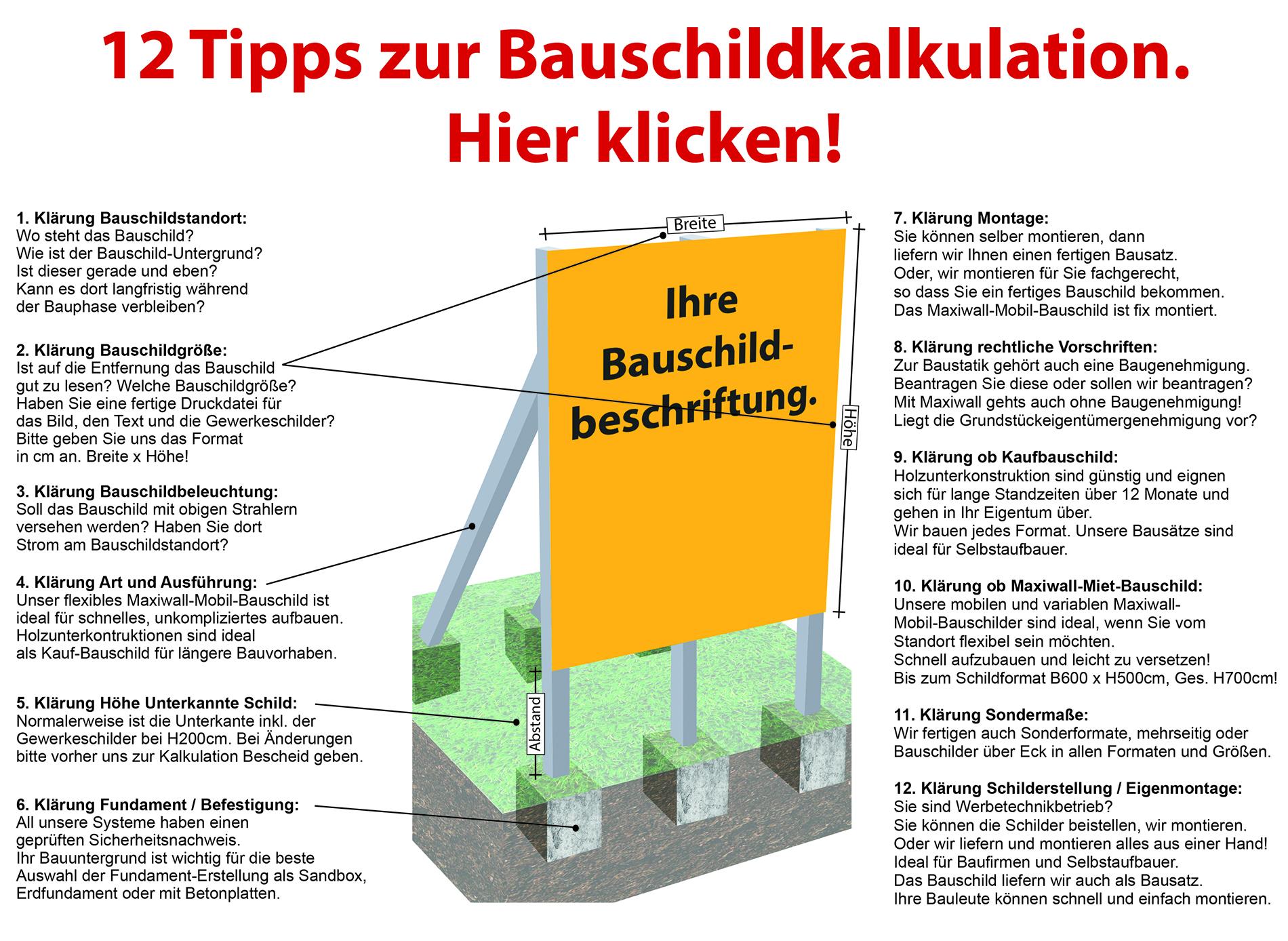 Bauschildzeichnung