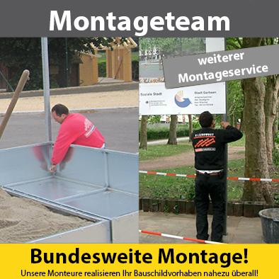 Aufbau zu schwer oder kompliziert? Kein problem für unsere professionellen Monteure.